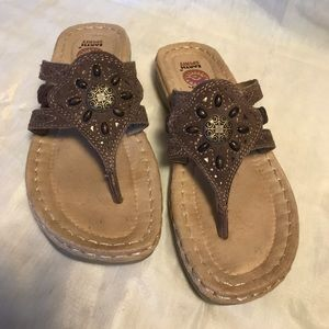 Earth Spirit sandals leather uppers size 6 Preowne